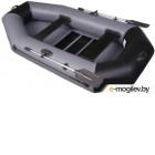 Надувная лодка Vivax К250 с ковриком-сланью (без киля, серый/черный)