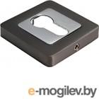 Накладка на евроцилиндр Morelli MH-KH-S55 GR/PC графит/хром