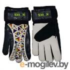 Перчатки вратарские Novus NFG-01 (XL, черный/белый)