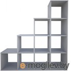 Стеллаж Polini Kids Home Smart Каскадный 10 секций (белый)