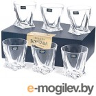 Набор бокалов для виски Bohemia Crystalite Quadro 20936/99A44/340 (6шт)