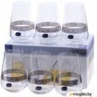 Набор стаканов Bohemia Crystal Sandra 23013/Q9171/380 (6шт)