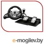 Dialog Игровой руль GW-255VR CyberPilot - вибро, 2 педали+рычаг, PC