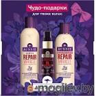 Набор косметики для волос Aussie Repair Miracle шампунь+бальзам+масло 3 Miracle Oil (300мл+250мл+100мл)