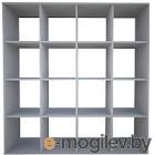 Стеллаж Polini Kids Home Smart Кубический 16 секций (белый)
