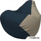 Бескаркасное кресло Flagman Груша Макси Г2.3-1502 (синий/светло-серый)