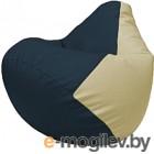 Бескаркасное кресло Flagman Груша Макси Г2.3-1510 (синий/светло-бежевый)