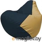 Бескаркасное кресло Flagman Груша Макси Г2.3-1513 (синий/бежевый)