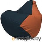 Бескаркасное кресло Flagman Груша Макси Г2.3-1523 (синий/оранжевый)