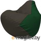 Бескаркасное кресло Flagman Груша Макси Г2.3-1601 (черный/зеленый)