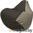 Бескаркасное кресло Flagman Груша Макси Г2.3-1602 (черный/светло-серый)