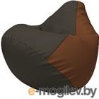 Бескаркасное кресло Flagman Груша Макси Г2.3-1607 (черный/коричневый)