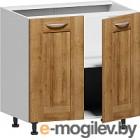 Шкаф-стол кухонный Заречье Румба РБ27 (белый/дуб ривьера)