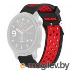 Аксессуары для смарт-часов Ремешок DF для Amazfit GTR 1.39 47mm/Huawei Watch GT2 46mm xiSportband-03 Black-Red
