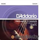 Струны для укулеле DAddario EJ87C Titanium Concert