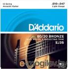 Струны для 12-струнной гитары DAddario EJ36