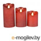Светодиодные свечи Kaemingk Живое пламя 3шт Red 480013