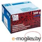 Резинки для купюр Alco 754 диаметр 100мм ширина 5мм 500г красный картонная упаковка