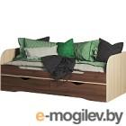 Кровать-тахта Мебель-КМК 800 Атланта 0741.18 (ясень шимо светлый/ясень шимо темный)