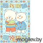 Плед детский ОТК Два медведя 100x140 / D321511/12BL (голубой)