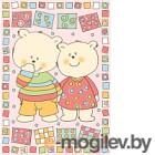 Плед детский ОТК Два медведя 100x140 / D321511/12RO (розовый)