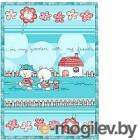 Плед детский ОТК Друзья на отдыхе 100x140 / D321511/13 (голубой)