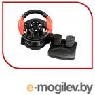 Dialog Игровой руль GW-225VR E-Racer - вибро, 2 педали + рычаг, PC USB/PS4&3/XB1&360/Android/Switch