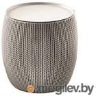Кофейный столик садовый Keter Urban Knit / 229128 (бежевый)
