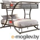 Двухъярусная кровать Грифонсервис КД2 (серый)