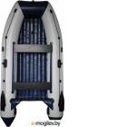 Надувная лодка Vivax Т330Р НДНД (с килем, серый/черный)