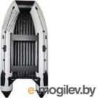Надувная лодка Vivax Т360Р с жестким полом (с килем, серый/черный)