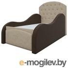Кровать-тахта Mebelico Майя 10 (микровельвет, бежевый/коричневый)