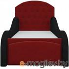 Кровать-тахта Mebelico Майя 10 (микровельвет, красный/черный)