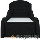 Кровать-тахта Mebelico Майя 10 (микровельвет, черный)