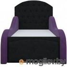 Кровать-тахта Mebelico Майя 10 (микровельвет, черный/фиолетовый)