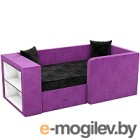 Кровать-тахта Mebelico Орнелла 5 (микровельвет, черный/фиолетовый)
