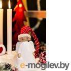 Фигура под ёлку Gasper Ангел в шапочке / 5019602-01 (красный/белый)