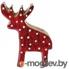 Фигура под ёлку Gasper Олень / 6319532-01 (красный)