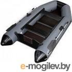 Надувная лодка Vivax К300Т с ковриком-сланью (без киля, серый/черный)