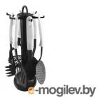 Galaxy GL 9110 (6шт) Набор кухонных принадлежностей 7 предметов :лопатка перфорированная, шумовка, половник, ложка перфорированная, ложка поварская, ложка для спагетти, пластиковая подставка