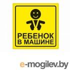 AVS Знак Ребёнок в машине ГОСТ 15x15cm ZS-06 A07146S - наружная самоклеющаяся 1шт