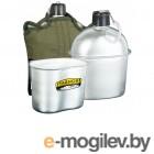 Походная фляга Yagnob 2в1 Military Flask 1L алюминиевая + походный котелок + мягкий чехол