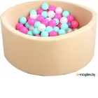 Игровой сухой бассейн Kampfer Pretty Bubble (300 шаров, бежевый)