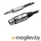 Аксессуары для микрофонов Шнур Proel 6.3mm Jack - XLR/M 3m BULK200LU3
