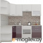 Готовая кухня ВерсоМебель ЭкоЛайт-5 1.2x2.1 правая (белый/сливовый)