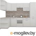 Готовая кухня ВерсоМебель ЭкоЛайт-6 1.3x2.8 левая (белый/белый)