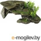 Декорация для аквариума Aqua Della Каменный грот с растениями / 234/105283