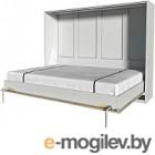 Шкаф-кровать Интерлиния Innova H140 (бетон/белый)