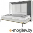 Шкаф-кровать Интерлиния Innova H140 (дуб сонома/белый)