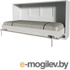 Шкаф-кровать Интерлиния Innova H90 (бетон/белый)